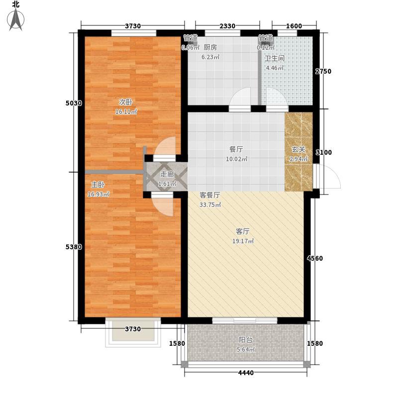 杰岛名城94.60㎡杰岛名城创意两居户型10室