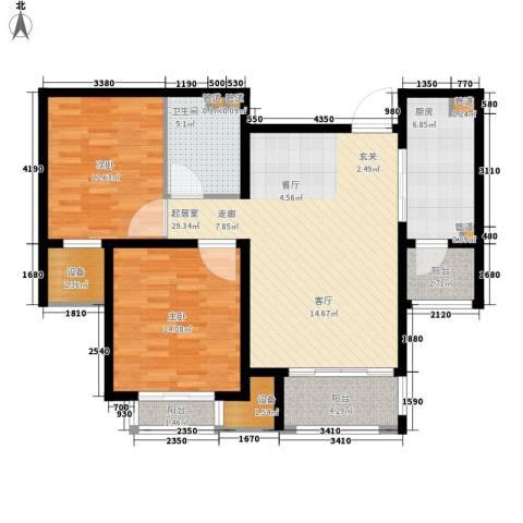 丽景御园2室0厅1卫1厨118.00㎡户型图