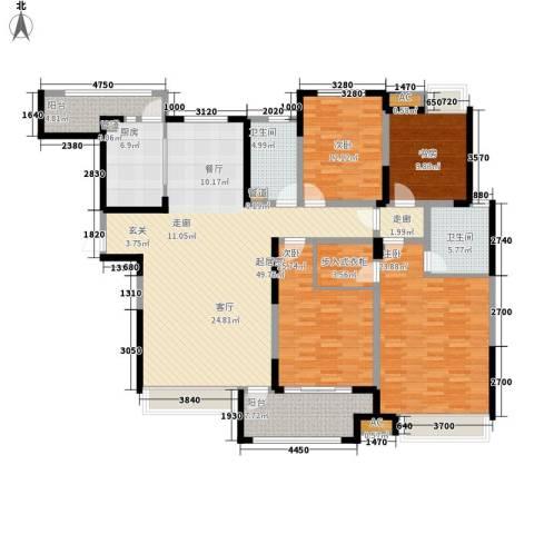 绿地塞尚公馆4室0厅2卫1厨170.12㎡户型图
