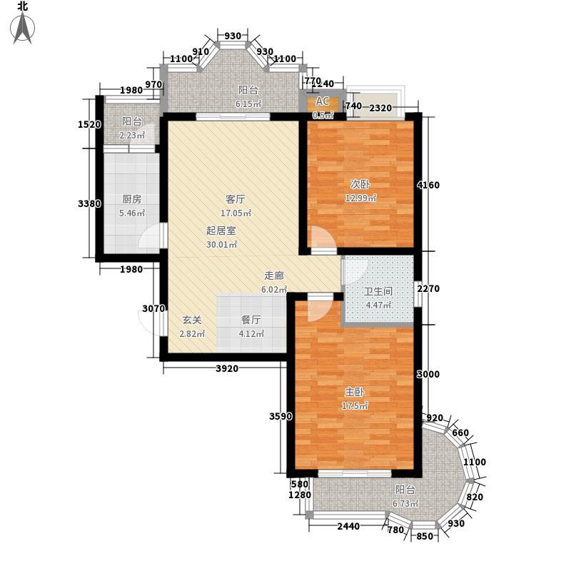 美寓华庭三期高新尚居99.16㎡美寓华庭户型图D2室2厅1卫1厨户型2室2厅1卫1厨