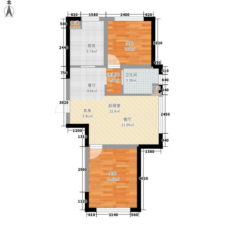新星宇和悦77.93㎡新星宇和悦户型图二期D户型图2室2厅1卫1厨户型2室2厅1卫1厨