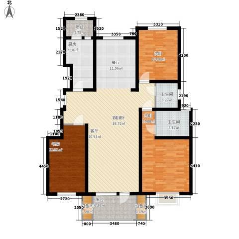 康城・瑞河兰乔3室1厅2卫1厨174.00㎡户型图