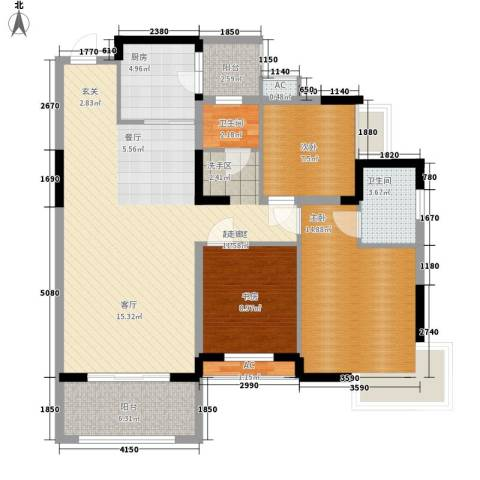 钱隆樽品二期3室0厅2卫1厨120.00㎡户型图