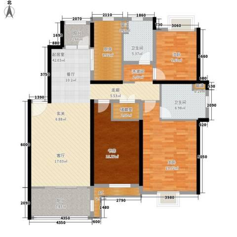 春天花园3室0厅2卫1厨139.00㎡户型图
