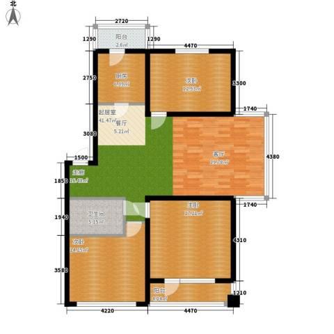 碧波康桥3室0厅1卫1厨141.00㎡户型图