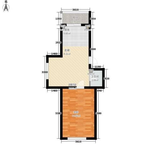 东方之珠龙兴苑1室0厅1卫0厨59.00㎡户型图