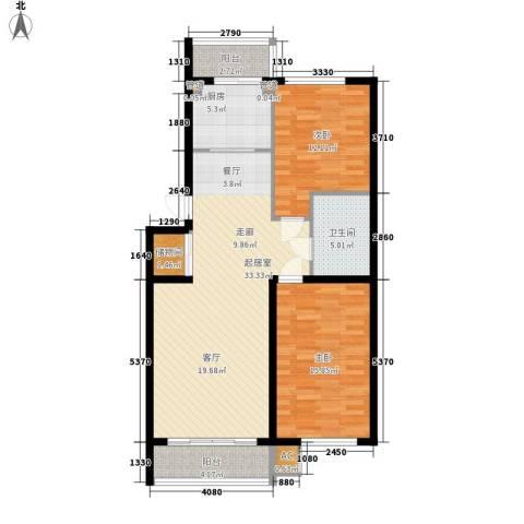 东方之珠龙兴苑2室0厅1卫1厨104.00㎡户型图