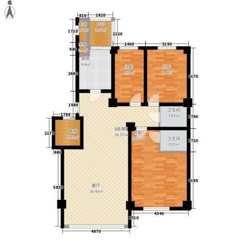 东方之珠龙兴苑3室0厅2卫1厨143.00㎡户型图