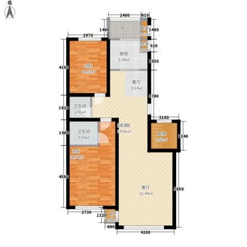 东方之珠龙兴苑2室0厅2卫1厨118.00㎡户型图