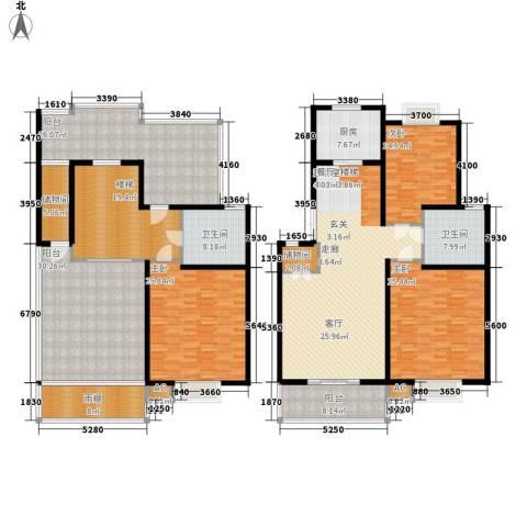 北京路18号3室0厅2卫1厨235.97㎡户型图