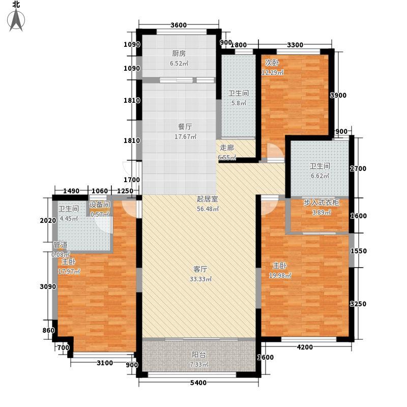 绿地塞尚公馆200.00㎡绿地塞尚公馆户型图A8户型3室2厅3卫户型3室2厅3卫