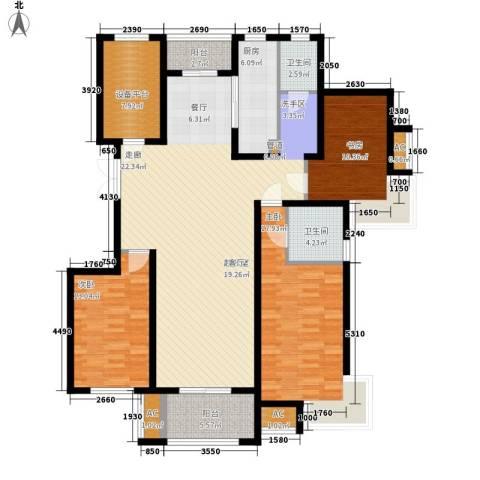 国基城邦3室0厅2卫1厨179.00㎡户型图