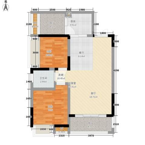 湖光山色2室0厅1卫1厨90.00㎡户型图