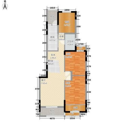 天明城2室0厅1卫1厨134.00㎡户型图
