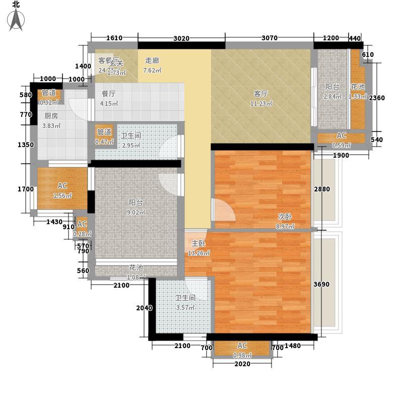 乐湾首府94.30㎡16、17栋1、4号房户型