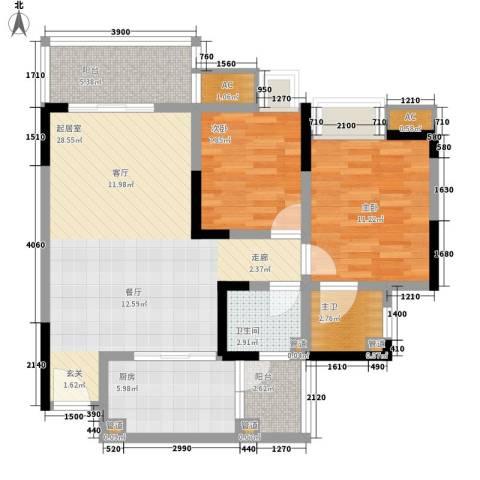 金悦湾2室0厅1卫1厨74.00㎡户型图