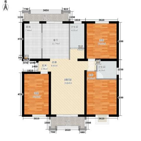 檀香湾3室0厅2卫1厨150.00㎡户型图
