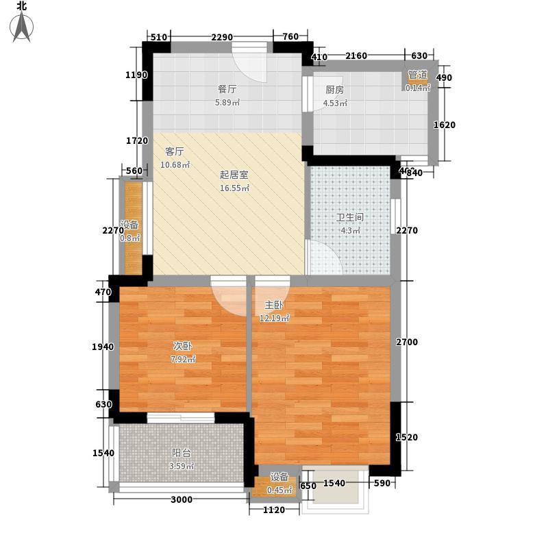 同济苹果嘉园66.70㎡同济苹果嘉园户型图M型2室2厅1卫1厨户型2室2厅1卫1厨