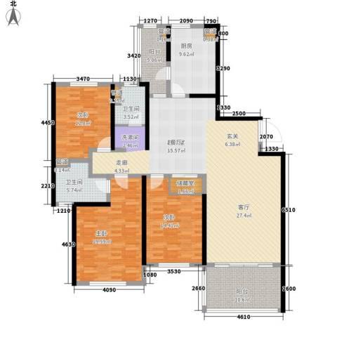 南通运杰龙馨园3室0厅2卫1厨160.00㎡户型图