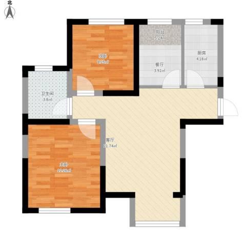 滨海欣嘉园2室1厅1卫1厨98.00㎡户型图