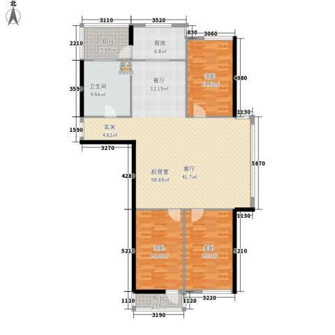 栖里凤台山庄3室0厅1卫1厨140.00㎡户型图