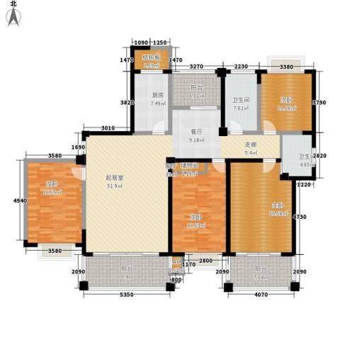 福瑞嘉园4室0厅2卫1厨187.00㎡户型图