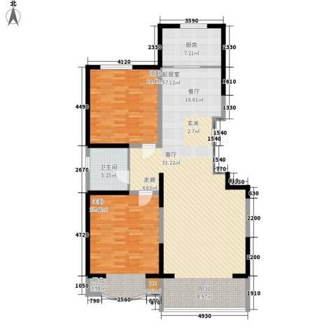 江南新城美墅邻2室0厅1卫1厨119.00㎡户型图