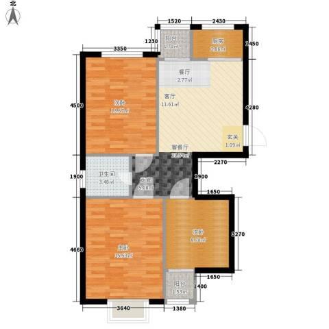 天成海尚3室1厅1卫1厨110.00㎡户型图