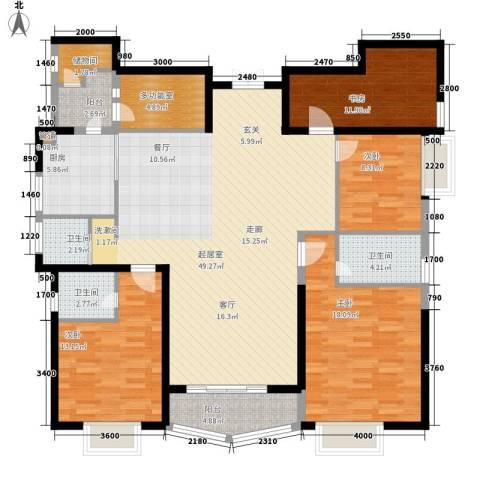 豪景苑4室0厅3卫1厨169.00㎡户型图