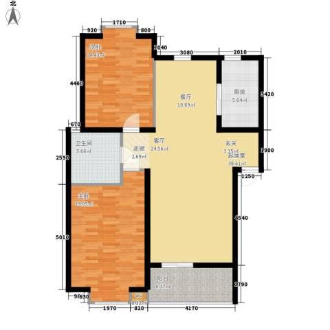 东坡家园2室0厅1卫1厨101.00㎡户型图