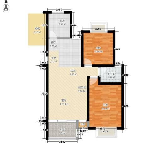 永安公寓2室0厅1卫1厨82.00㎡户型图