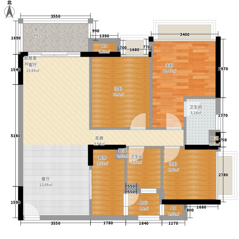 阳光・未来城101.00㎡阳光・未来城江㎡101方三房户型3室2厅2卫101.00㎡户型3室2厅2卫