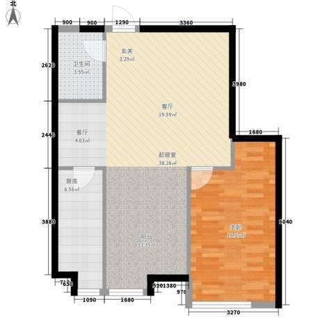 栖里凤台山庄1室0厅1卫1厨73.00㎡户型图