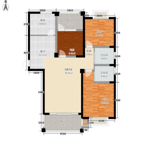 福瑞嘉园3室0厅2卫1厨133.00㎡户型图