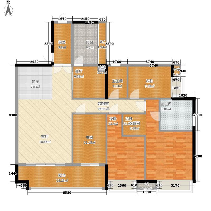 富力天禧花园168.00㎡A1栋01面积16800m户型