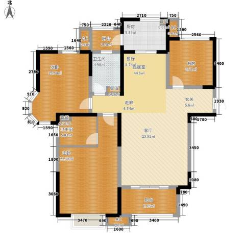 绿地塞尚公馆3室0厅2卫1厨138.00㎡户型图