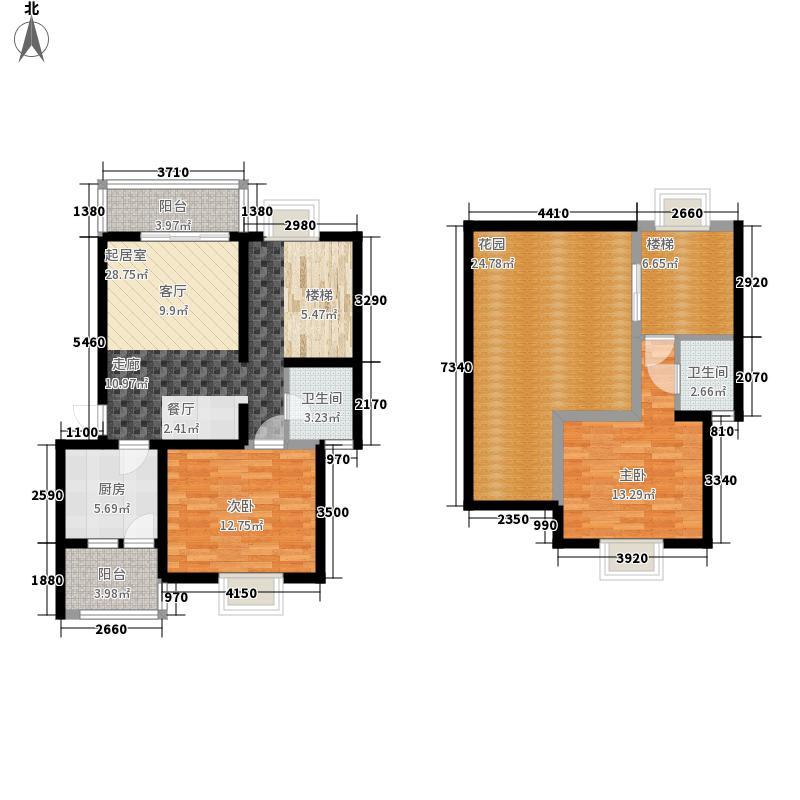 西华阳光121.97㎡E1跃户型2室2厅2卫1厨