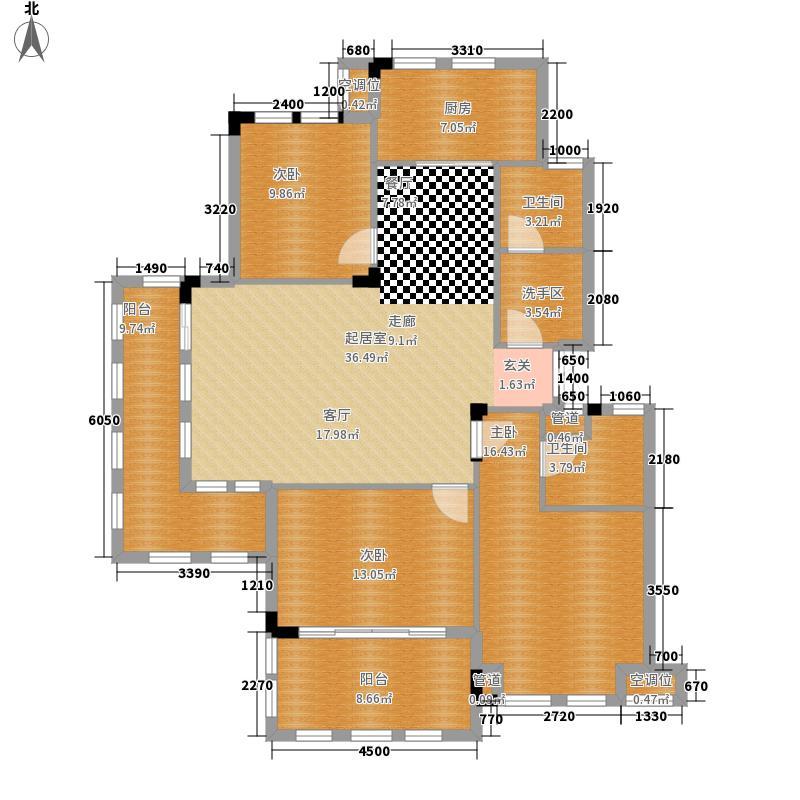 万城春天125.00㎡万城春天户型图11.12号楼-D-1户型3室2厅2卫1厨户型3室2厅2卫1厨