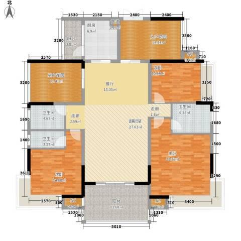 翡翠山河3室0厅3卫1厨170.00㎡户型图