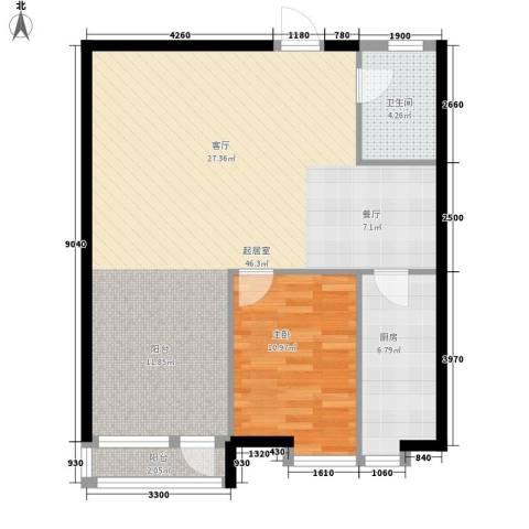 栖里凤台山庄1室0厅1卫1厨79.00㎡户型图