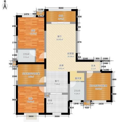 经典华城一期梧桐语2室0厅2卫1厨148.00㎡户型图