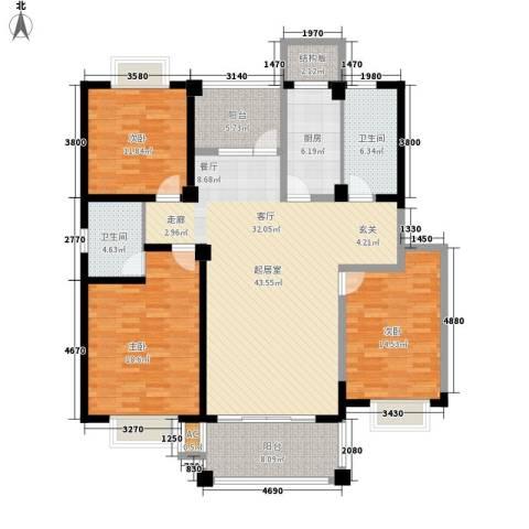 福瑞嘉园3室0厅2卫1厨140.00㎡户型图