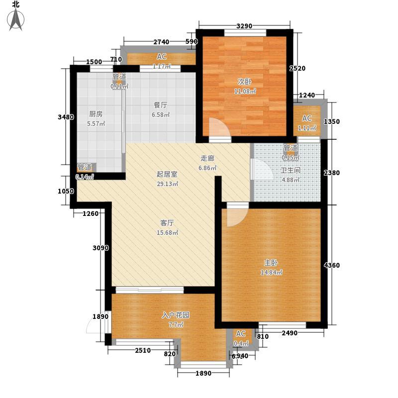 梅里香舍二期88.84㎡梅里香舍二期户型图H户型2室2厅1卫1厨户型2室2厅1卫1厨