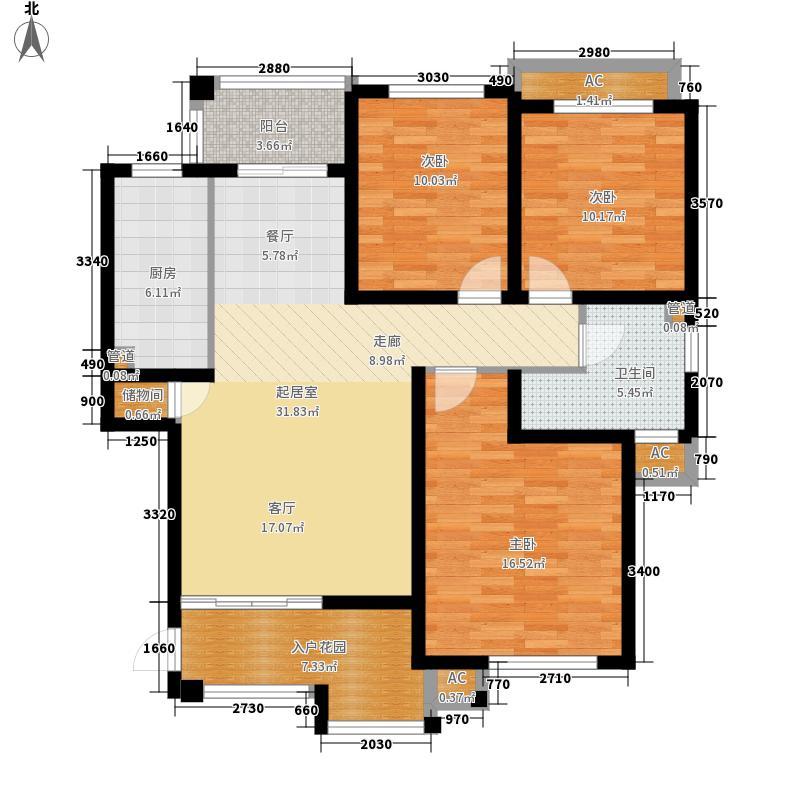 梅里香舍二期109.96㎡梅里香舍二期户型图C户型3室2厅1卫1厨户型3室2厅1卫1厨