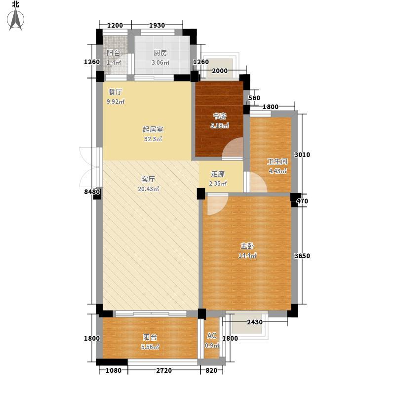罗马都市84.00㎡罗马都市户型图F1两人世界户型图2室2厅1卫户型2室2厅1卫