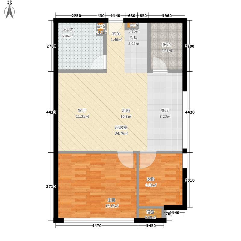 新亚大厦75.89㎡新亚大厦户型图1室1厅1卫1厨户型10室