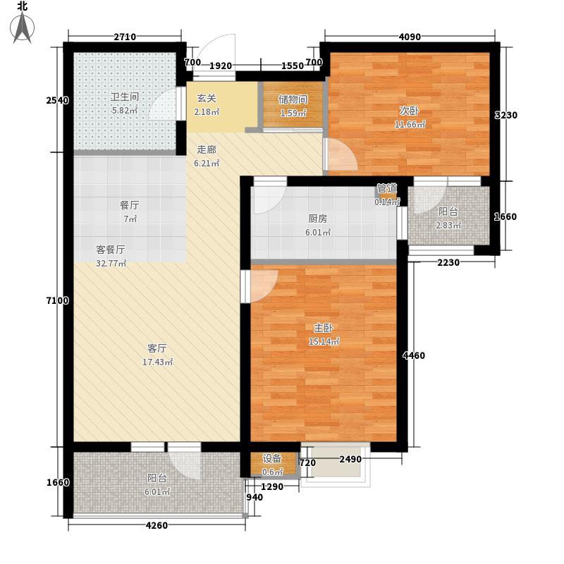 众美凤凰城二期94.12㎡众美凤凰城二期户型图B户型94.122室2厅户型2室2厅