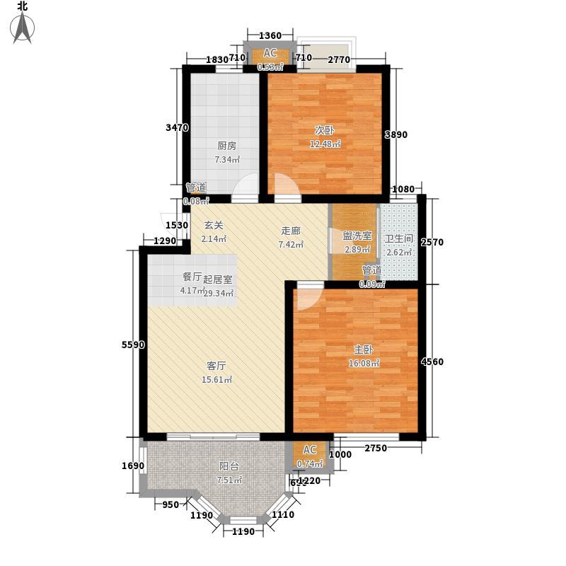 梅里香舍二期92.39㎡梅里香舍二期户型图Ed户型2室2厅1卫1厨户型2室2厅1卫1厨