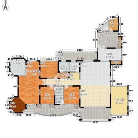 翡翠山河4室0厅6卫1厨354.00㎡户型图