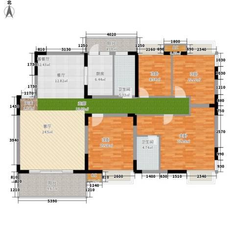 揽海听涛4室1厅2卫1厨160.00㎡户型图